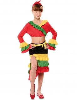 Reizende Rumba-Tänzerin Mädchenkostüm für Karneval bunt