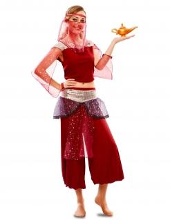 Bauchtänzerin-Kostüm Damen-Karneval-Kostüm rot
