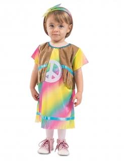Hippie-Kostüm für Kleinkinder Faschingskostüm bunt