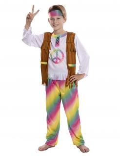 Hippie-Kostüm für Jungen Kinder-Karneval-Kostüm bunt