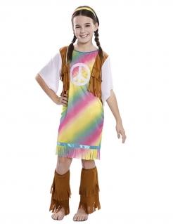 Hippie-Kostüm für Mädchen Kinder-Karneval-Kostüm bunt