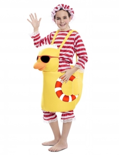 Badeenten-Kostüm für Kinder Faschingskostüm gelb-rot