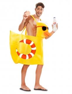 Badeenten-Kostüm für Erwachsene Sommerkostüm gelb