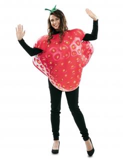 Erdbeer-Kostüm witziges Karneval-Kostüm rot