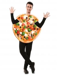 Pizza-Kostüm für Erwachsene Faschingskostüm bunt