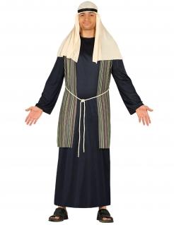 Hirten-Kostüm für Herren Weihnachtskostüm blau-weiss