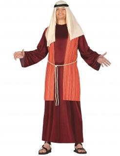 Hirtenkostüm für Herren Weihnachtskostüm rot-weiss