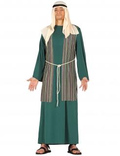 Hirten-Kostüm für Herren Weihnachtskostüm grün-weiss