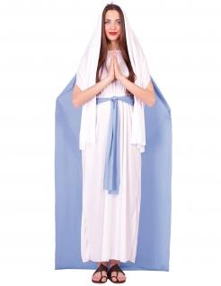 Jungfrau Maria-Kostüm für Damen Weihnachtskostüm hellblau-weiss