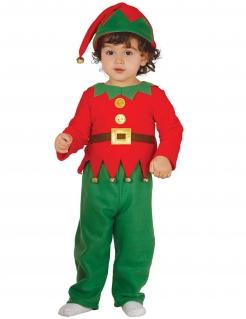 Wichtel-Kostüm für Kinder Kleinkinder-Weihnachtskostüm rot-grün-gold