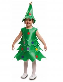 Weihnachtsbaum-Kostüm Kinder-Weihnachts-Kostüm grün-bunt