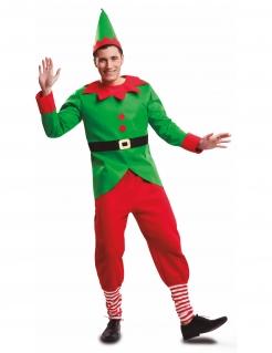 Weinachtselfen-Kostüm Elf-Kostüm rot-grün