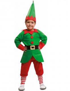 Elfen-Kostüm für Kinder Weihnachtself-Kostüm grün-rot