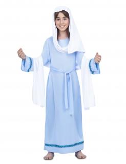 Jungfrau Maria-Kostüm für Kinder Krippenspiel-Kostüm blau-weiss