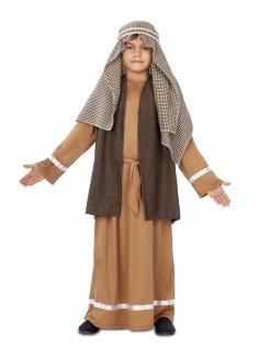 Josef-Kostüm für Kinder Krippenspiel-Kostüm 4-teilig braun-weiss