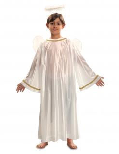Engel-Kostüm für Kinder Krippenspiel-Kostüm weiss-goldfarben