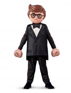 Rex Dasher-Kostüm für Jungen Playmobil™ schwarz-weiss-braun