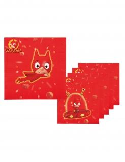 SamSam™-Servietten Kindergeburtstag-Deko 6 Stück rot 33 x 33 cm