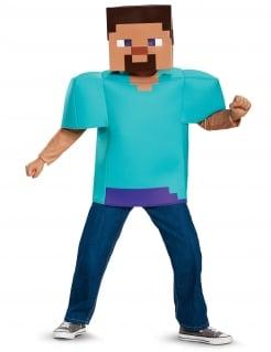 Steve Minecraft™-Kostüm für Kinder Faschingskostüm türkis