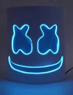 Witzige LED-Maske DJ Faschingsmaske blau