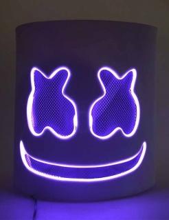 LED-Maske DJ-Maske Festival violett