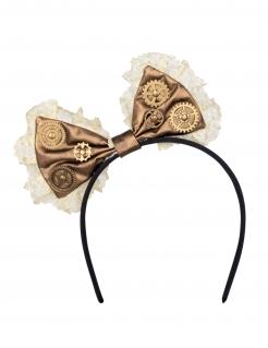 Steampunk-Haarreif mit Schleife für Damen Accessoire braun