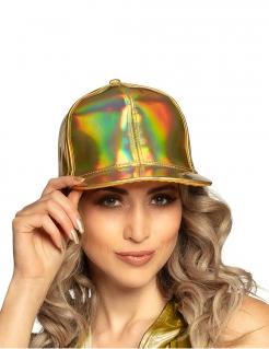 Baseball-Mütze für Damen Accessoire glänzend gold