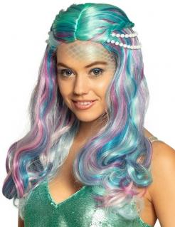 Wunderschöne Meerjungfrau-Perücke für Damen pastellfarben bunt