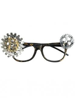 Steampunk-Brille Nerdbrille mit Zahnrädern für Erwachsene