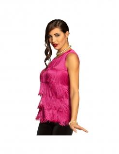 Fransen-Shirt für Damen pink