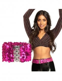 Pailletten-Gürtel für Damen Accessoires pink
