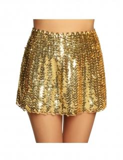 Pailletten-Rock für Damen Accessoire gold