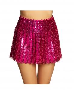 kurzer Paillettenrock für Erwachsene pink
