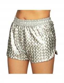 Damen-Shorts Kostüm-Accessoire Faschings-Accessoire glänzend silber