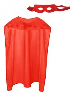 Superhelden-Accessoireset für Erwachsene Karneval 2-teilig rot