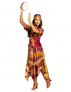 Wahrsagerin-Kostüm für Damen Faschingskostüm bunt