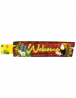 Tukan-Wanddekoration Welcome bunt 60 x 13 cm