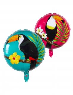 Tukan-Luftballon Alu-Ballon Partydeko bunt 45 cm