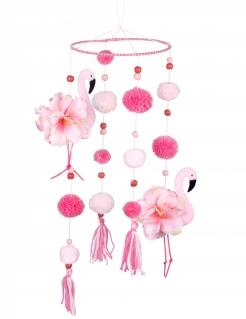 Flamingo-Hängedeko Mobilé Partydeko rosa 60x16 cm