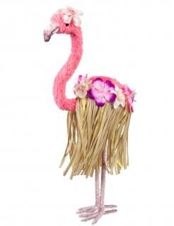 Flamingo-Dekofigur Partydeko Sommerparty rosa-braun 35x16 cm