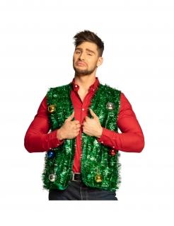 Weihnachts-Weste für Erwachsene Weihnachtskostüm grün