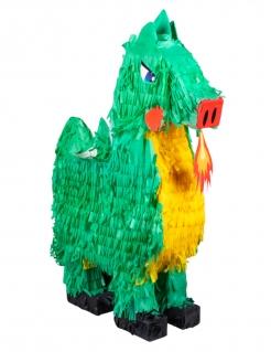 Drachen-Piñata Partyanimation Kindergeburtstag grün-orange 49 x 47 cm