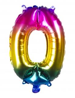 Regenbogen-Zahlenluftballon zum Aufhängen Partydeko bunt 36 cm