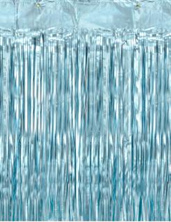 Fransen-Vorhang schimmernd Partydeko blau 90x250 cm