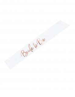 Braut-Schärpe für Junggesellinnen-Abschied weiss-rosé
