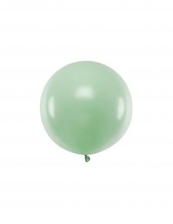 Runder Luftballon Partydeko mintgrün 60 cm