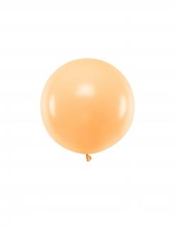 Grosser Latex-Luftballon rund Partydeko pfirsischorange 60 cm