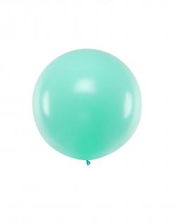 Riesen-Luftballon rund Partydeko pastell mint 1 m