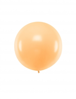 Riesiger Latexballon orangefarben 1 m