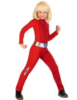 Spionage-Kostüm für Kinder Faschingskostüm rot-silber